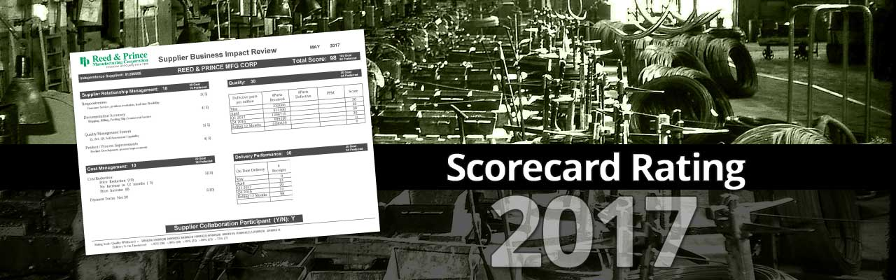 May 2017 98% Supplier Scorecard Rating