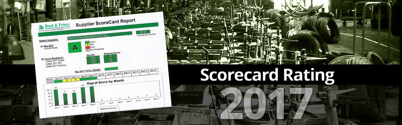 June 2017 A Supplier Scorecard Rating